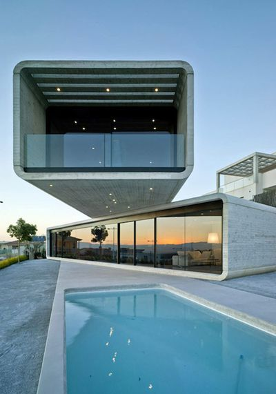 Crossed House by Clavel Arquitectos
