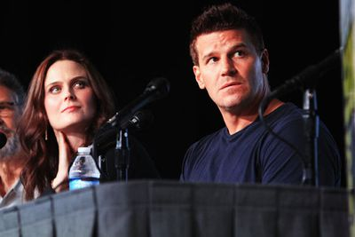 <i>Bones</i> stars Emily Deschanel and David Boreanaz.