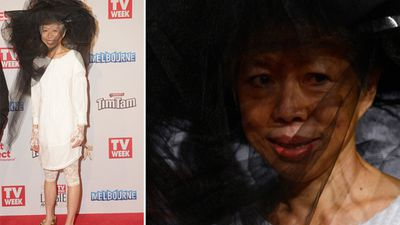 A rare miss? Or ahead of her time? SBS news anchor, Lee Lin Chin at the 2015 Logies. <br>  Pictures courtesy 9JumpIn/TV Week Logie Awards.