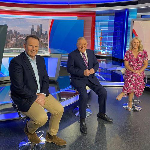 Tony Jones, Peter Hitchener and Livinia Nizon in 9News Unmasked.