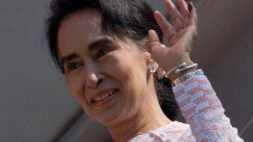 Myanmar's president congratulates Suu Kyi on election win
