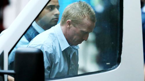 Adrian Bayley in police custody. (Supplied)