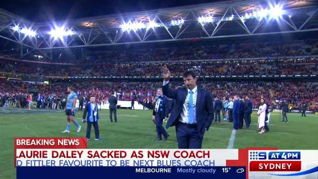 Laurie Daley sacked
