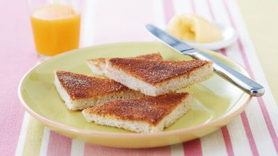 "Recipe:&nbsp;<a href=""http://kitchen.nine.com.au/2016/06/06/15/41/cinnamon-toast"" target=""_top"">Cinnamon toast</a>"
