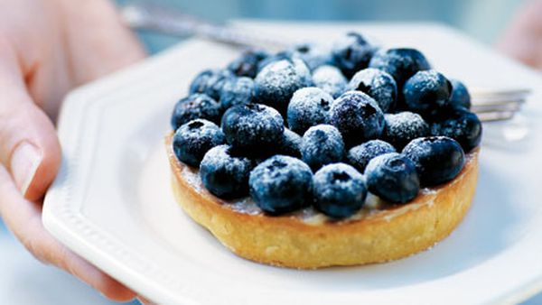 Blueberry vanilla tart