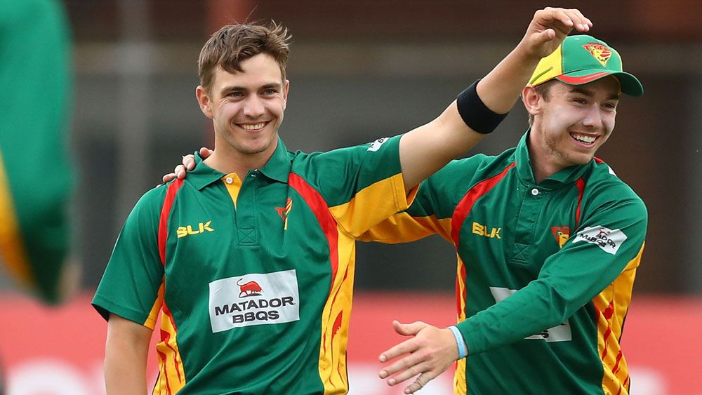 Tasmanian spinner Cameron Boyce took 4-55 against the Bulls. (Getty)