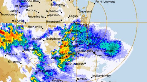 Thunderstorm lashes south-east Queensland, still reeling from earlier storm