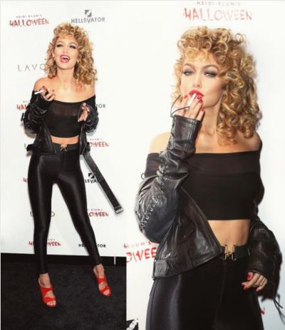 Gigi Hadid as Sandy from Grease, 2015