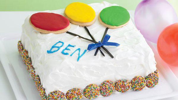 Balloons aloft cake