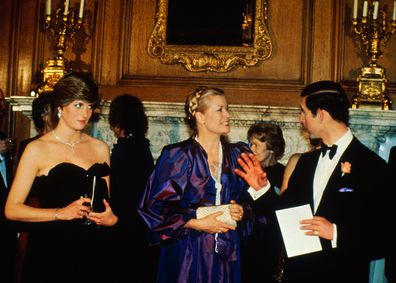 The event, also attended by Princess Grace, was in aid of raising money for the Royal Opera House, Covent Garden. March 9, 1981.