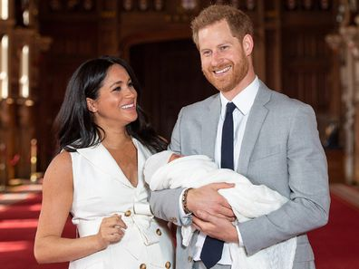 Duke and Duchess of Sussex with baby Archie.