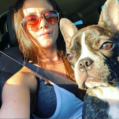 Jenelle Evans and Nugget.
