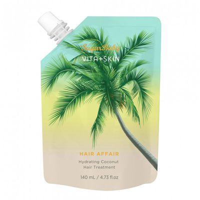 "<a href=""http://sugarbaby.com.au/product/vita-skin-hair-affair/"" target=""_blank"">Sugar Baby</a> Vita+Skin Hair Affair Hydrating Coconut Hair Treatment, $14.99."