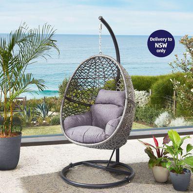 Aldi Belavi hanging egg wicker chair