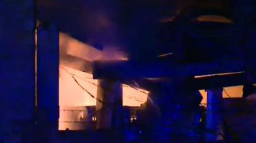 The blaze is believed to have been sparked by an explosion. (9NEWS)