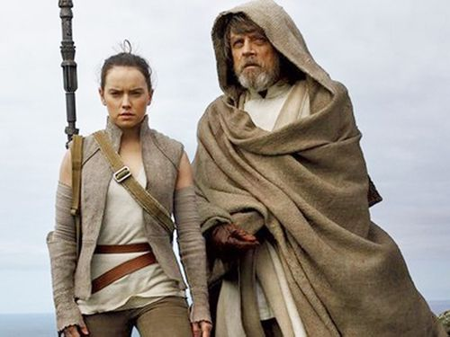 Mark Hamill returns to the role of Luke Skywalker alongside new apprentice Rey.