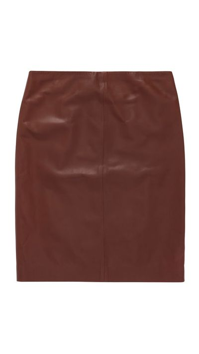 """<a href=""""http://www.oroton.com.au/majestic-leather-skirt/w1/i4315092/?ip=121.200.225.84&amp;isReload=true"""">Majestic Leather Skirt, $495, Oroton</a>"""