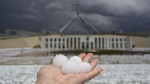 hail at canberra