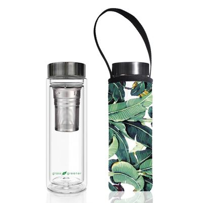 "<p><a href=""https://www.hardtofind.com.au/145698_glass-is-greener-double-walled-tea-flask-500ml-with-banana-print-carry-cover"" target=""_blank"" draggable=""false"">Glass Is Greener Tea Flask, $48.10 with Banana Print Carry Cover.</a> Why? If you ever want to have a hot beverage put it in this pretty flask and sip on the run.</p> <p> </p>"