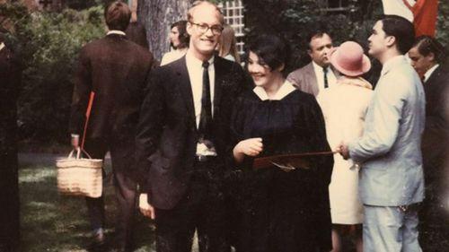 Jane Britton at her Harvard graduation.