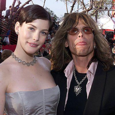<p>Liv Tyler and Steven Tyler</p>