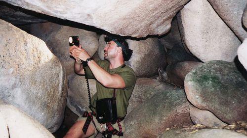 Danny Mackerle exploring the boulders of Black Mountain. (Photo: Danny Mackerle)