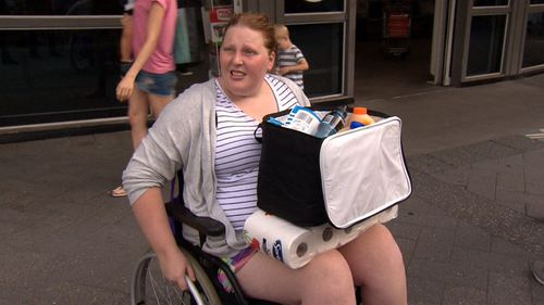 Jacqui Giles was shoved in the supermarket by a woman hoarding toilet paper.