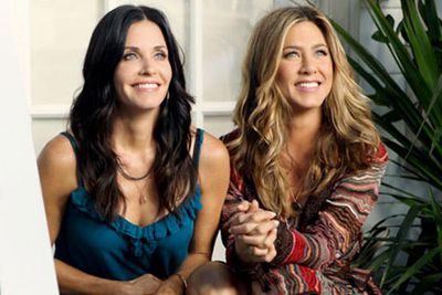 Gotta love having a solid movie-star friend you can call on when your new series need ratings boosts. Courteney first coaxed fellow <i>Friend</i> Aniston into a guest spot on <i>Dirt</i> as a former lesbian fling/rival. It was great to see the pair play opposite each other with mean-spirited roles, even if the much-hyped kiss was kinda lame. Unfortunately, when Aniston appeared on <i>Cougar Town</i>, she just rehashed the same character she's played in every film since <i>Friends</i> finished. Although she was great in <i>Horrible Bosses</i> and <i>The Good Girl</i>!