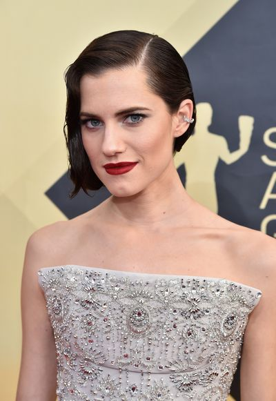 <p><em><strong>Pout</strong></em></p> <p>Girls star Allison Williams showed that all you need on the red carpet to make a splash is the perfect red lipstick.</p>