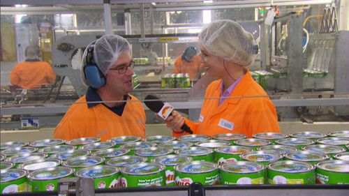 The Milo factory in Smithtown supplies the product to all of Australia and New Zealand. (9NEWS)