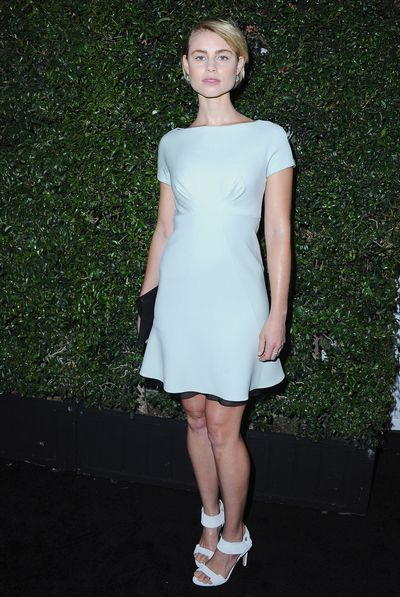 """Lucy Fry in <em><a href=""""https://world.maxmara.com/"""" target=""""_blank"""" draggable=""""false"""">Max Mara</a></em> at the 2016 Women In Film Max Mara event in Los Angeles in June, 2016"""
