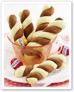 Easter shortbread twists