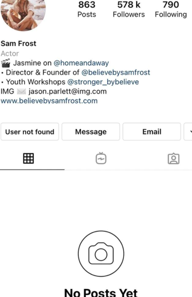 Sam frost deactivates IG after anti-vax video