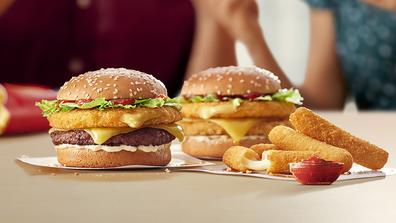 McDonald's Cheesy range