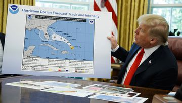 Donald Trump has repeatedly insisted Alabama was in the path of Hurricane Dorian, despite the corrections of his own forecasters.