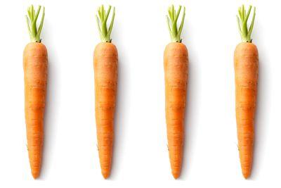 4 medium carrots are 100 calories