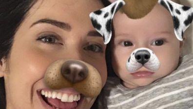 Nikki McCahon and her baby