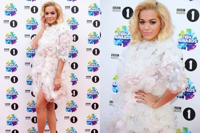 Is it a bird? Is it a plane? Nope, just Rita Ora in Marchesa.