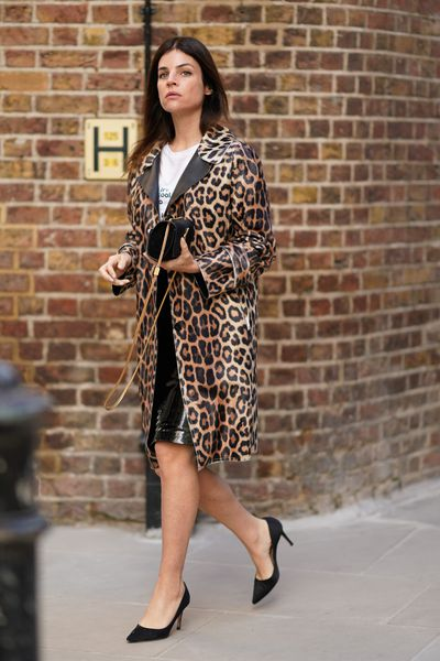 Steal the top street style looks from London Fashion Week for a fraction of the price. <br> <br> Be guided by front row guests grabbing attention outside the shows in the trends you can wear now.<br> <br> <strong><em>Animal Attraction</em></strong><br> <br> Julia Restoin-Roitfeld follows in the rock chic footsteps of her mother, super stylist Carine Roitfeld, with this classic animal print coat.