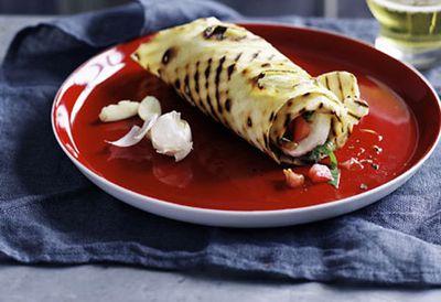 Cassone di Caprese (tomato, basil and mozzarella)