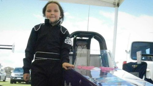 About 600 people later gathered to farewell Anita at the Perth Motorplex.