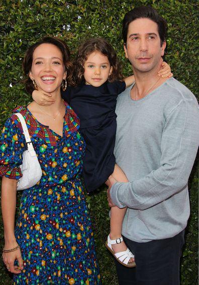 Zoe Buckman, David Schwimmer, daughter Cleo