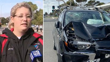 Chloe claims she was tailgated, threatened and then rammed head-on by an out of control drunk driver in a road rage attack in Adelaide's south