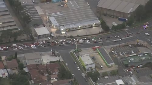 The crash caused long lines of traffic along Canterbury Rd. (Supplied)