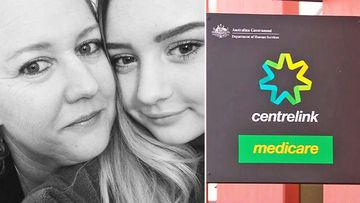 Single mum Megan Alymore, pictured with her daughter, said she was told it could take two months for her to access a sickness allowance through Centrelink.