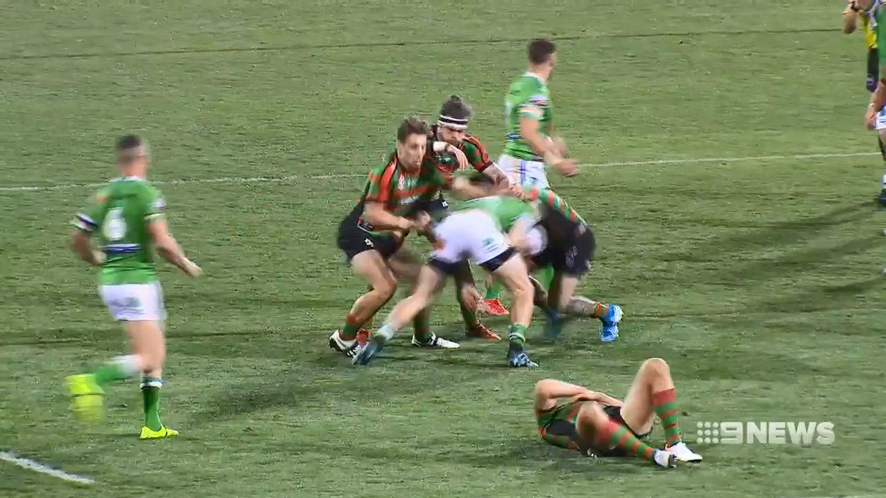 South Sydney coach Wayne Bennett plays down Sam Burgess injury fears