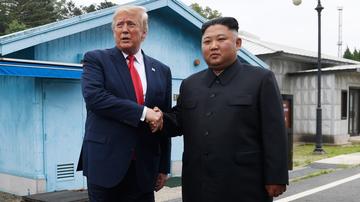 Trump Kim handshake
