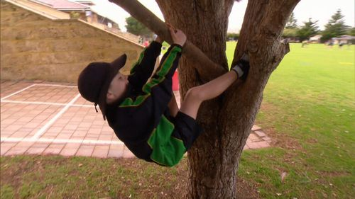 Kids are being encouraged in physical, risk-taking behaviour in the playground.