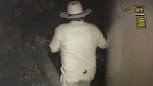 CCTV of Jones at Kellermeister's Lyndoch winery. (Supplied)