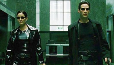 Carrie-Anne Moss, Keanu Reeves, The Matrix